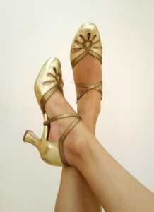 Ksenia's dance shoes - gold
