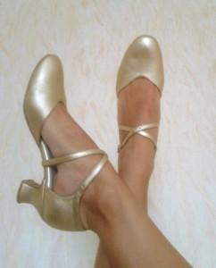 Ksenia's dance shoes - silver