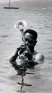 "Dizzy"" Gillespie a black American jazz musician"