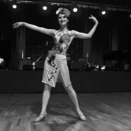 Cover photo for solo jazz dancer Ksenia Parkhatskaya's Honeysuckle Rose video
