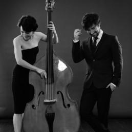 solo jazz dancer Ksenia Parkhatskaya and David Duffy in regards to their jazz ensemble K Quartet close up