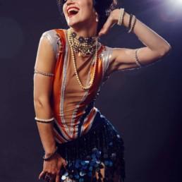 A photo of the artist Ksenia Parkhatskaya the Charleston smile