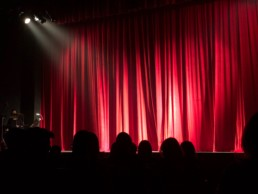 Stage picture on a blog on how to conquer performance anxiety