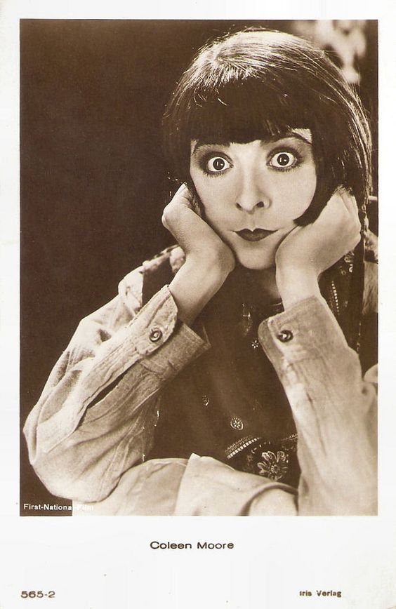 Colleen Moore expressive faces in 1920's silent movies