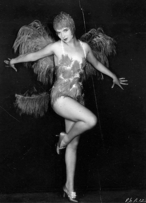 Luoise Brooks one of the 3 most famous flappers in burlesque dress dancing for ziegfield follies