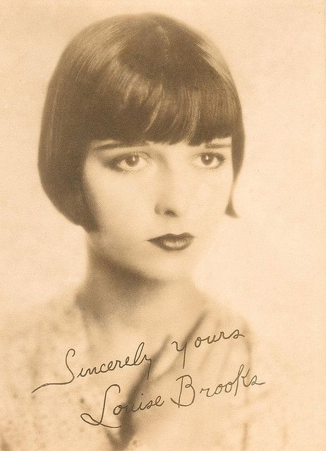 Louise Brooks, flapper with famous bobbed brunette hair style