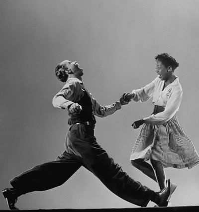 Leon James & Willa Mae Ricker lindy hop and solo jazz