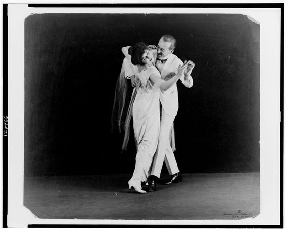 irene and vernon castle demonstrate fox trot ragtime dance